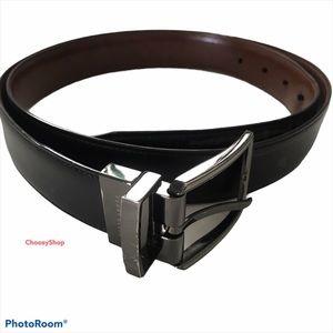 3/$20 PERRY ELLIS Reversible Blck/Brwn Silver Belt